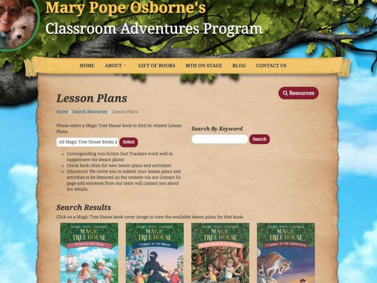 teachers' tales :: magic tree house